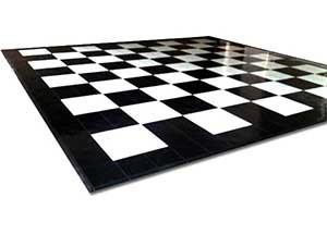 Black & White Floor - 4 x 4 Panels