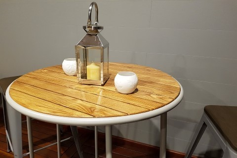 Cocktail Table with Timber Top