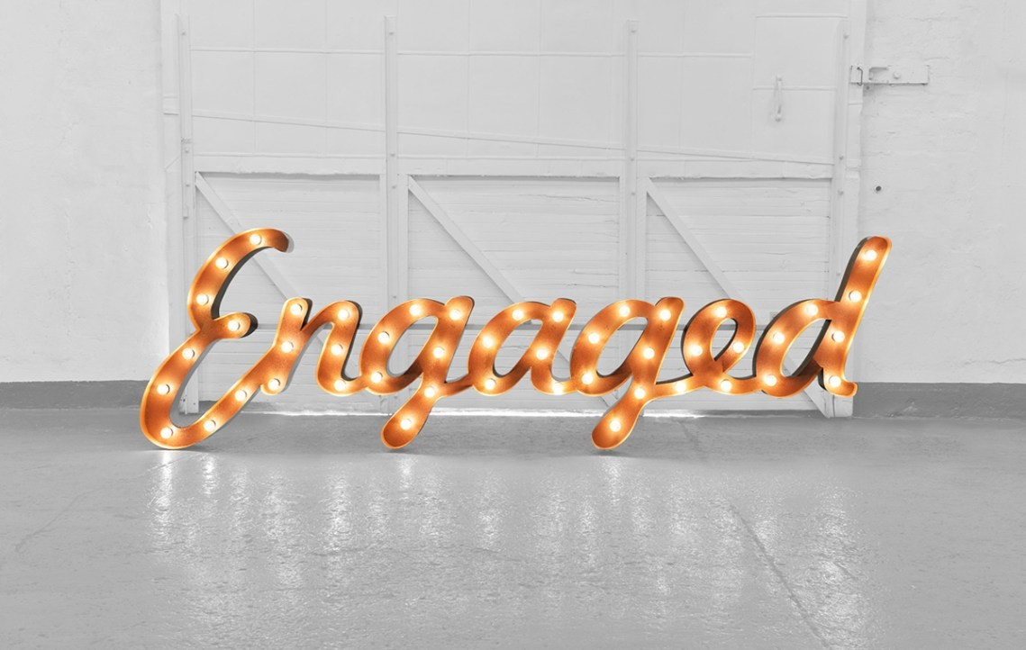 engaged light up letters
