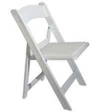 White Folding Chair Hire - Americana Chair