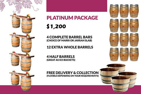 wine barrel platinum package