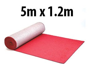 5m red carpet hire