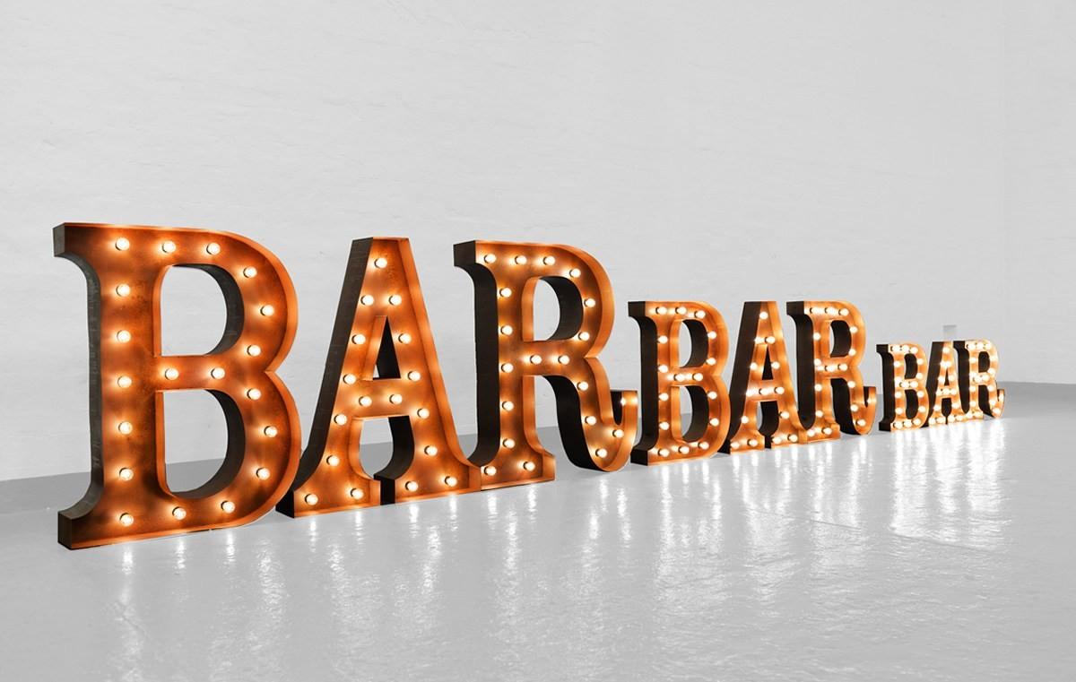 bar light up letter