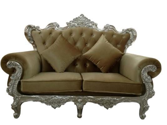 The Regal Sofa - Silver