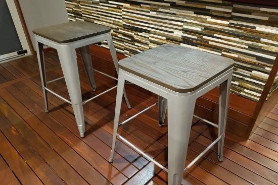 Tolix bar stool - silver