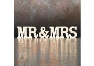 Mr & Mrs light up sign