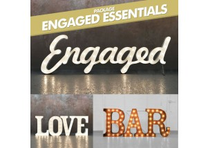 Engaged Essentials Light Up Letters Package