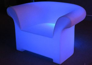 1 seater illuminated sofa