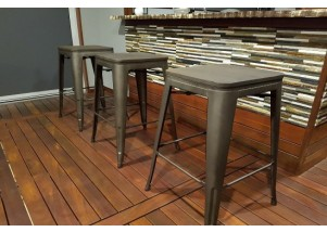gun metal tolix bar stool hire
