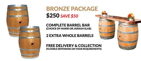 Wine Barrel Bronze Package Hire