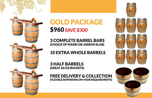 Wine Barrel Gold Package Hire