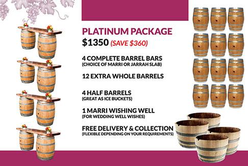 Wine Barrel Platinum Package Hire