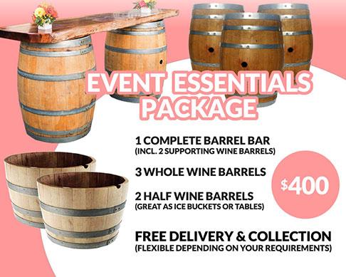 Wine Barrel Event Essentials Hire