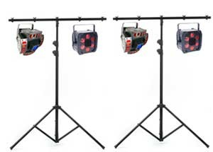 4 effects lights and 2 stand package
