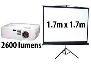 projector and screen hire