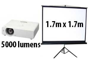 high lumen projector and screen hire