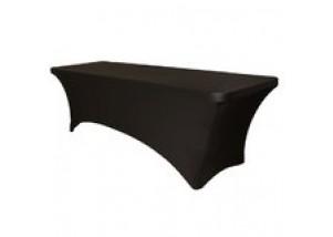 black lycra tablecloth hire