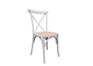 White cross back chair hire