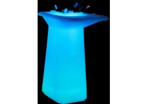 glow cocktail table with ice tub