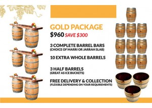 wine barrel gold package