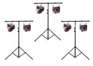 6 effect lights and 3 stands package
