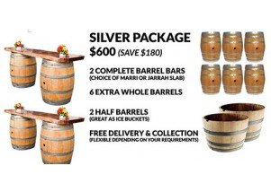 wine barrel silver package