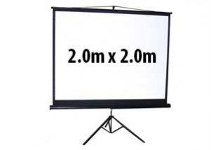Large Tripod Projector Screen - 2m x 2m